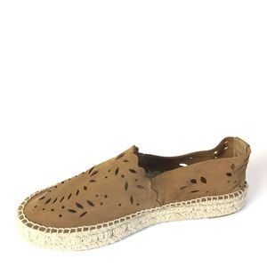 Zara espadrilles brown suede shoes 39